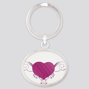 South Carolina State (Heart) Gifts Oval Keychain