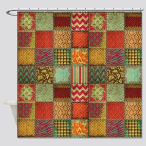Crazy Quilt Shower Curtain