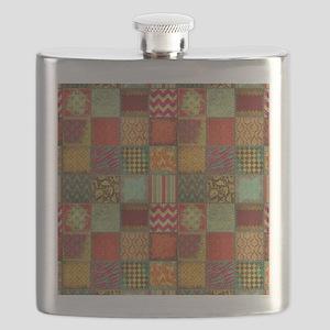 Crazy Quilt Flask