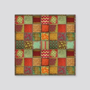 "Crazy Quilt Square Sticker 3"" x 3"""