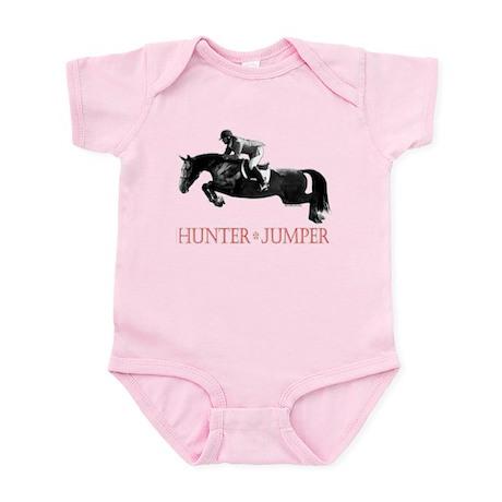 Hunter, Jumper Horse In Red Infant Bodysuit