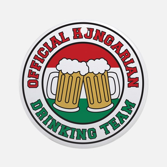 Official Hungarian Drinking Team Round Ornament