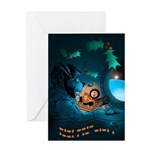 Ham Holiday Space Dog Greeting Card