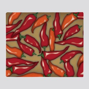 Red Chilli Peppers Throw Blanket