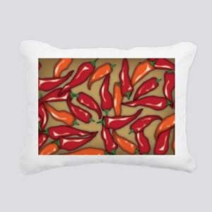 Red Chilli Peppers Rectangular Canvas Pillow