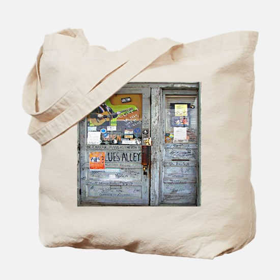 Ground Zero Blues Club Old Doors Graffiti Tote Bag