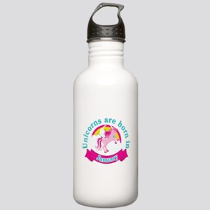Unicorns Are Born In J Stainless Water Bottle 1.0L