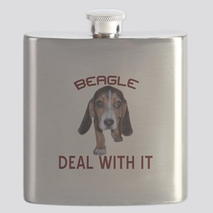 Beagle Deal With It Flask