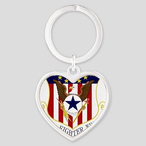 110th FW Heart Keychain