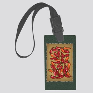 Red Chilli Peppers Large Luggage Tag