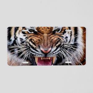 Big Cat Tiger Roar Aluminum License Plate