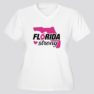 Florida Strong Women's Plus Size V-Neck T-Shirt