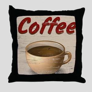 Coffee 2 Throw Pillow