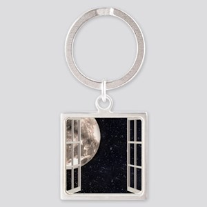 Magical Moon Square Keychain