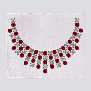 Hugs and Kisses Ruby Necklace Throw Blanket