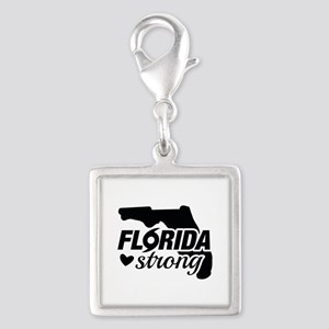 Florida Strong Silver Square Charm