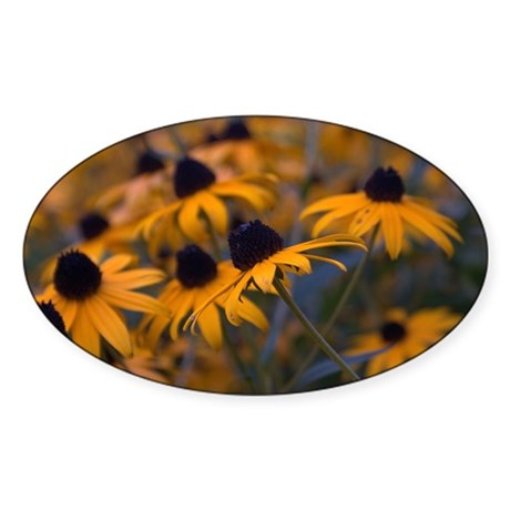 Yellow Daisys Sticker (Oval)