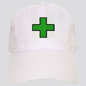 Green Medical Cross (Bold) Baseball Cap