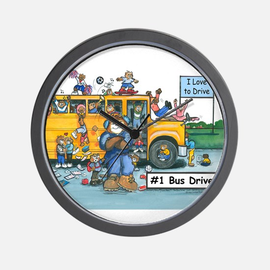 Male Bus Driver Wall Clock