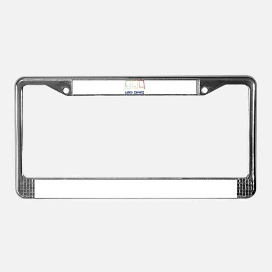 Mood Swings License Plate Frame