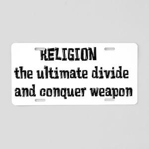 Religion Weapon Aluminum License Plate