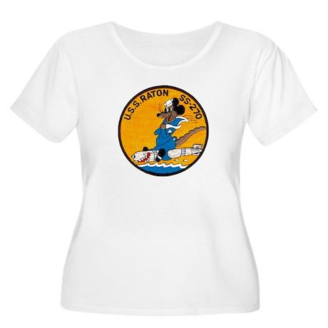 USS RATON Women's Plus Size Scoop Neck T-Shirt