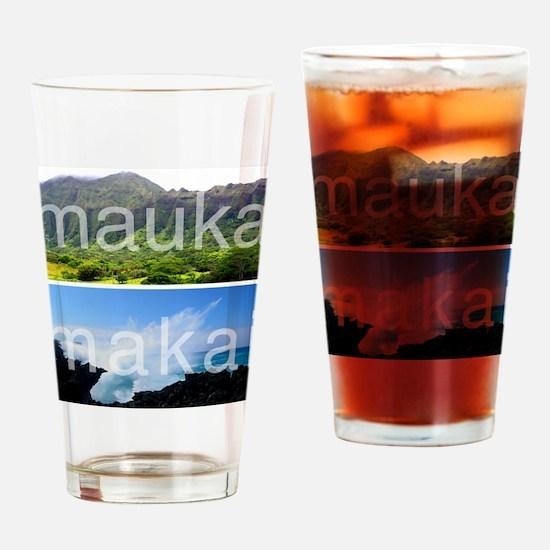 Mauka Makai Hawaii Print Drinking Glass