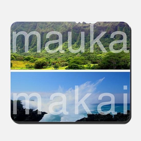 Mauka Makai Hawaii Print Mousepad