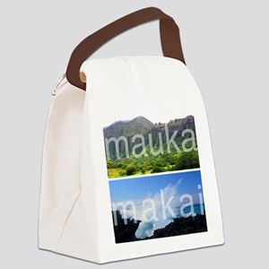 Mauka Makai Hawaii Print Canvas Lunch Bag