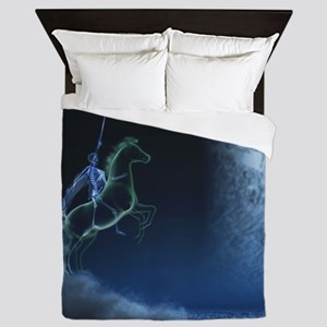 Knight in ghostly armor Queen Duvet