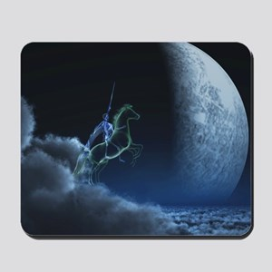 Knight in ghostly armor Mousepad