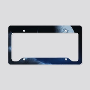 Knight in ghostly armor License Plate Holder