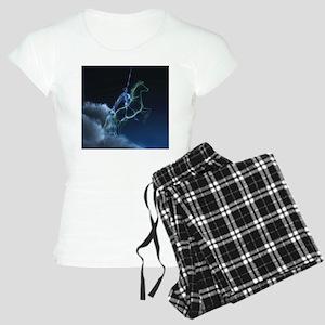 Knight in ghostly armor Women's Light Pajamas