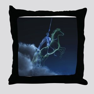 Knight in ghostly armor Throw Pillow