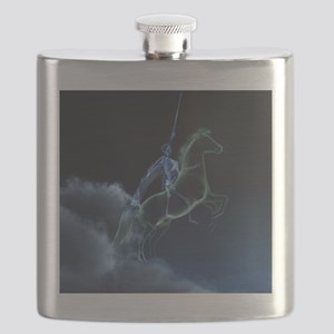 Knight in ghostly armor Flask