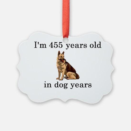 65 birthday dog years german shep Ornament