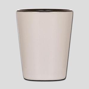 LEFT HAND DRINKING CLUB - White design Shot Glass