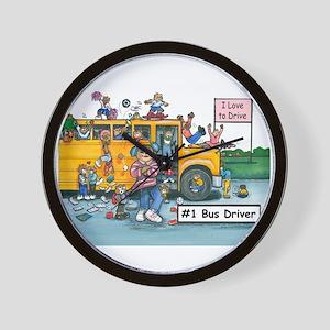 Female Bus Driver Wall Clock