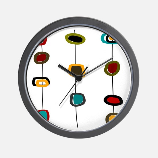 MCM Art 99 Shower curtain Wall Clock