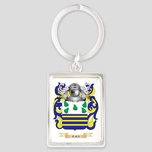 Kas Coat of Arms (Family Crest) Portrait Keychain