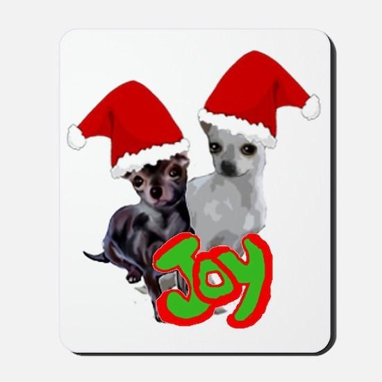 Chihuahua Christmas Mousepad