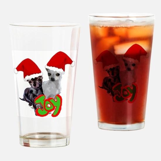 Chihuahua Christmas Drinking Glass