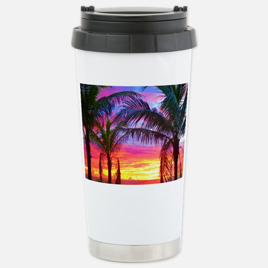 Captiva Island Sunset P Stainless Steel Travel Mug