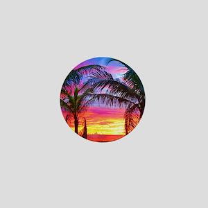 Captiva Island Sunset Palm Tree Mini Button