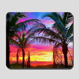 Captiva Island Sunset Palm Tree Mousepad