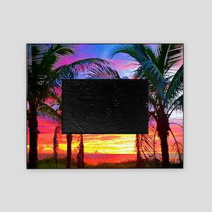 Captiva Island Sunset Palm Tree Picture Frame