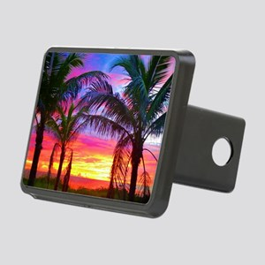 Captiva Island Sunset Palm Rectangular Hitch Cover
