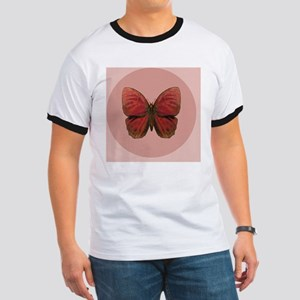 Red Rooster Butterfly Ringer T
