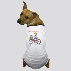 Girl about town - female cyclist Dog T-Shirt