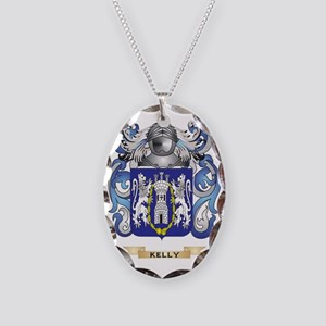 Kelly-(England) Coat of Arms ( Necklace Oval Charm